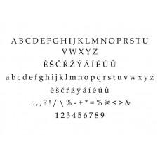 Typ písma - Book Antiqua - Gravírovanie - Book Antiqua