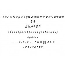Typ písma - Brush Script